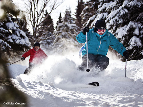 Skieurs au Mont Ste-Anne