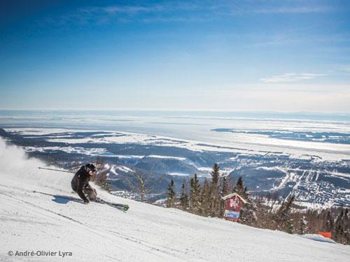 skieur au Mont Sainte-Anne