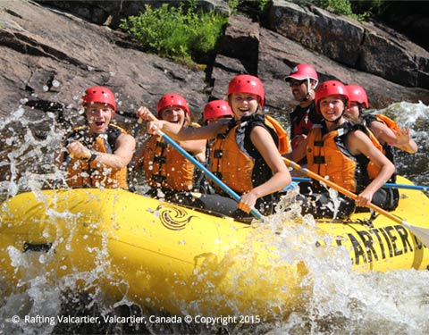 groupe de rafting